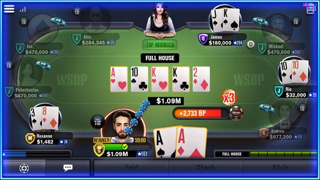 World Series of Poker – WSOP Free Texas Holdem скачать