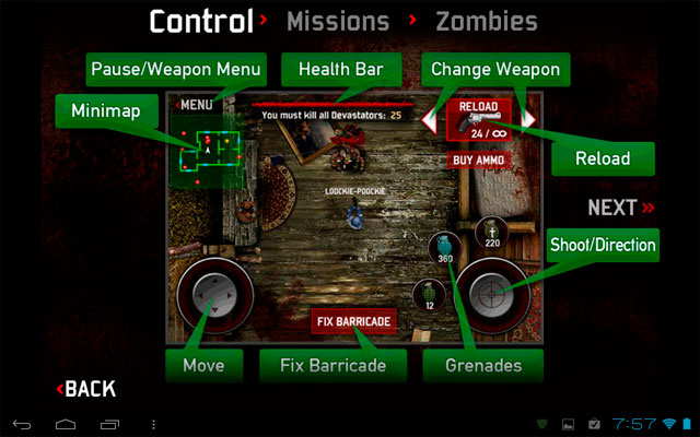 Zombie assault для android